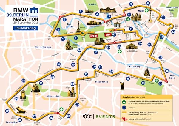 39. Berlin Marathon - Strecke